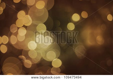 Blur Light Gold Glitter Bokeh Background Event