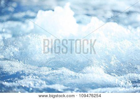 Splashing water in swimming pool