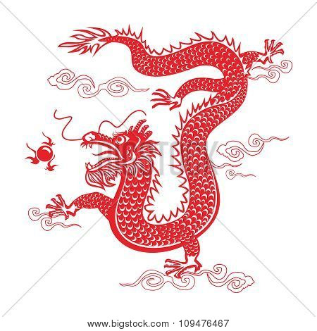Vector Chinese Dragon
