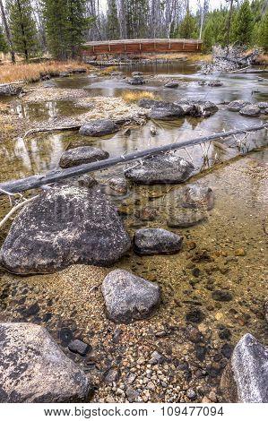 Rocks In Redfish Creek In Idaho.