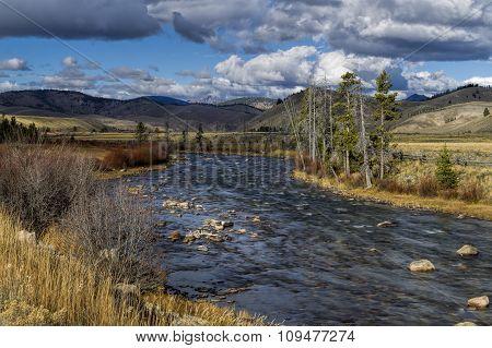 Salmon River Leading To Stanley, Idaho.