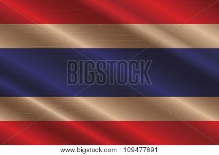 Thailand Flag In Art Design  Vector Illustration 5