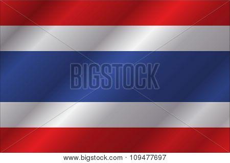 Thailand Flag In Art Design  Vector Illustration 6
