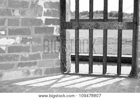 Jail bars at old fort
