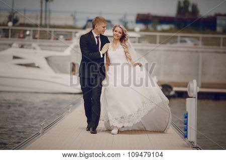 Wedding blond couple