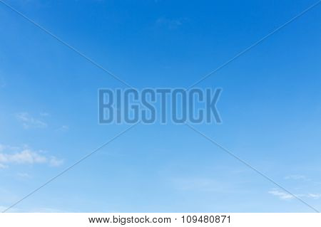 Clear Blue Sky And White Cloud