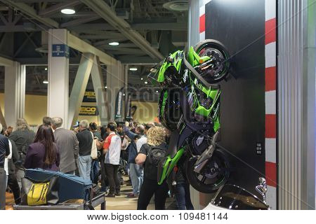 Kawasaki Ninja On The Wall