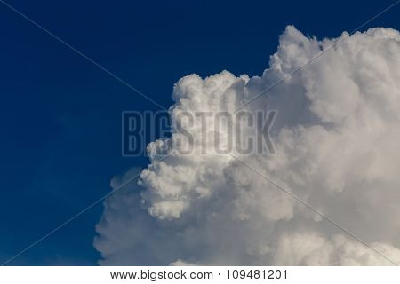 Fluffy Cloud On Dramatic Sky