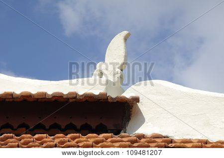 Architectural detail at Peringgit Mosque in Malacca, Malaysia