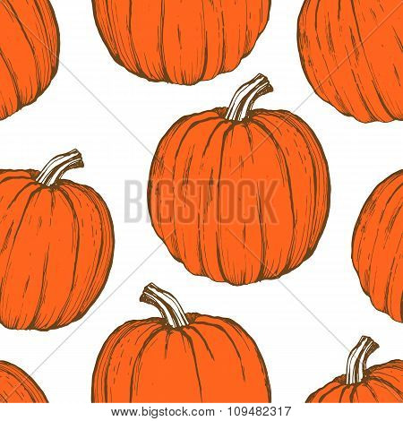 Thanksgiving Day. Seamless background with pumpkins.