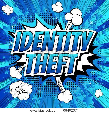 Identity theft - Comic book style word