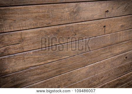 Wood Brown Wall Plank Background