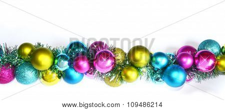 Strip of colorful baubles