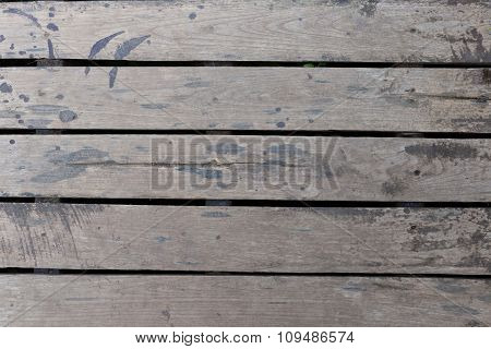 Old Wood Floor Plank Weathered