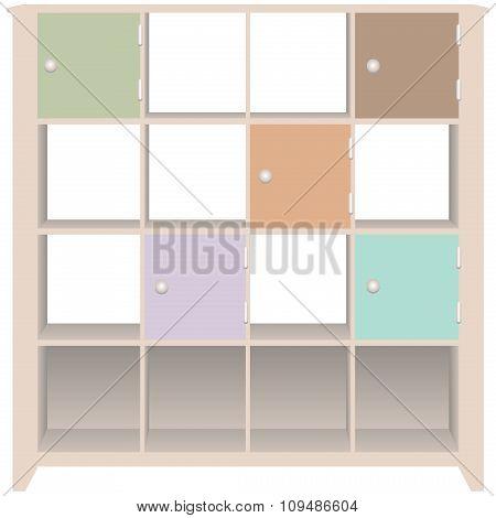 Line Trim Cabinet With Doors
