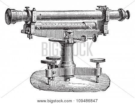 Level Egault, vintage engraved illustration. Industrial encyclopedia E.-O. Lami - 1875.