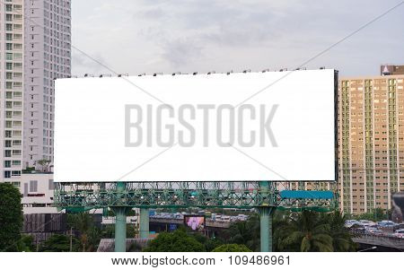 Large Blank Billboard Ready For New Advertisement