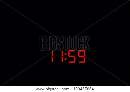 Digital Watch 11:59
