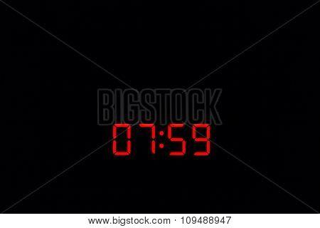 Digital Watch 07:59