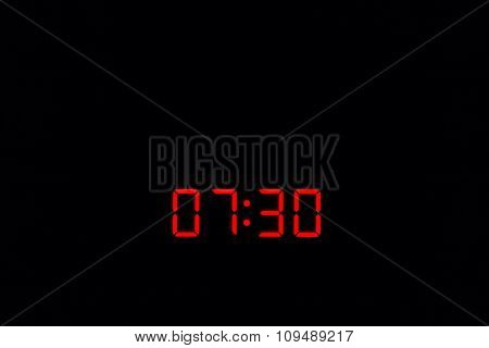 Digital Watch 07:30