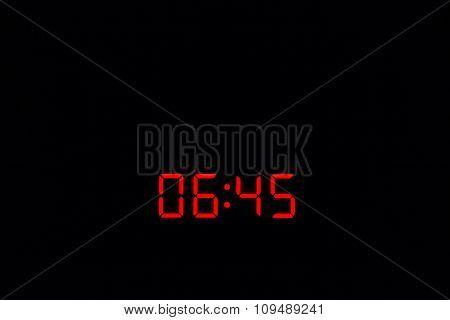 Digital Watch 06:45