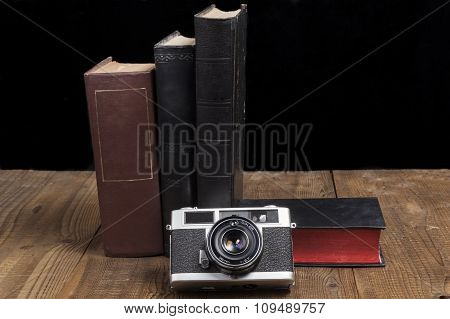 Camera With Books