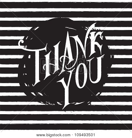 Thank You Hand Lettering.
