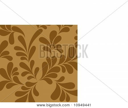 Abstract brown background curls vector format for design.