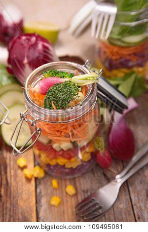 rainbow salad in jar