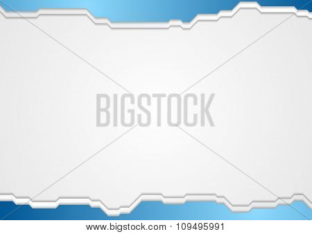 Abstract blue gray technology background. Vector illustration