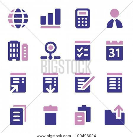 Office web icons set
