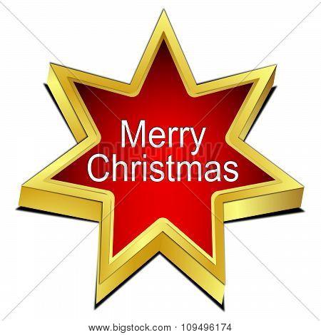Merry Christmas star button