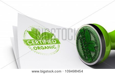 Organic Certified Background