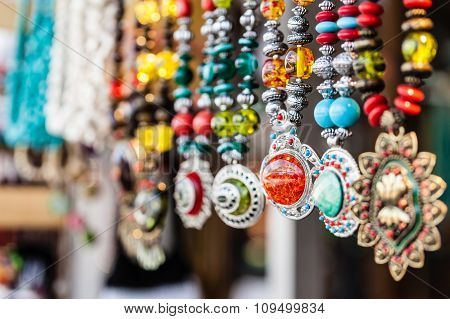 Row Of Necklaces