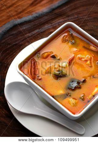 Tom Yam Kung. Thai cuisine.