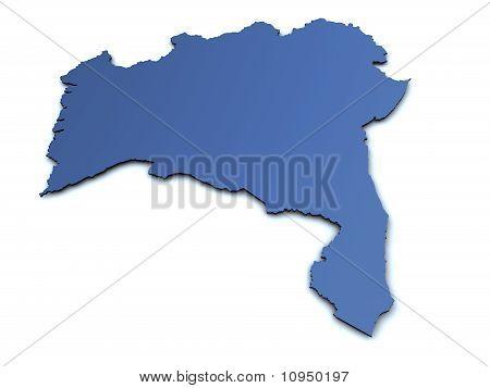 Map of Bahia - Brazil