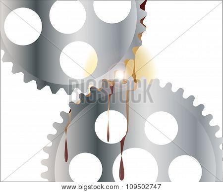 Oiled Gear Wheels