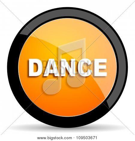 dance music orange icon