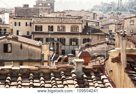 Historical Houses In Florence, Tuscany, Italy