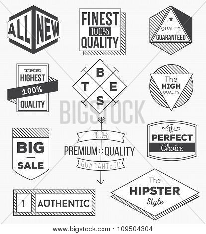 Collection of vintage design elements