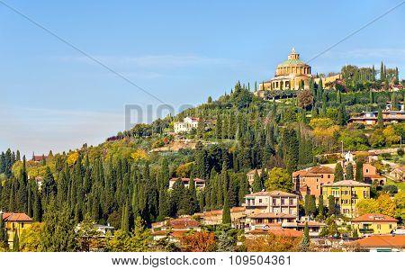 View Of Forte San Leonardo In Verona