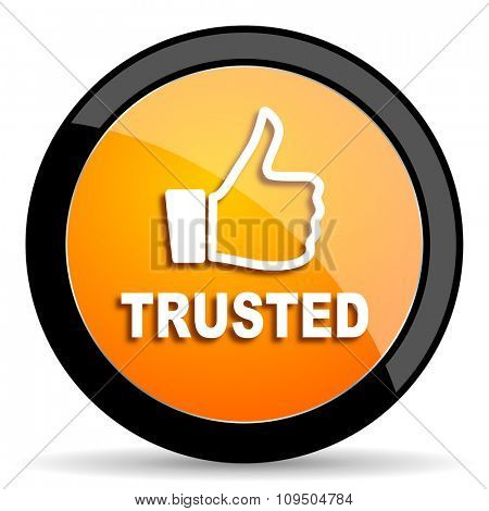 trusted orange icon