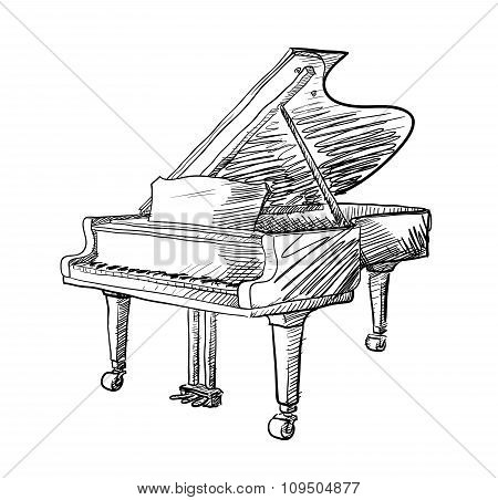 Grand Piano Doodle