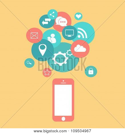 Mobile Media Icons