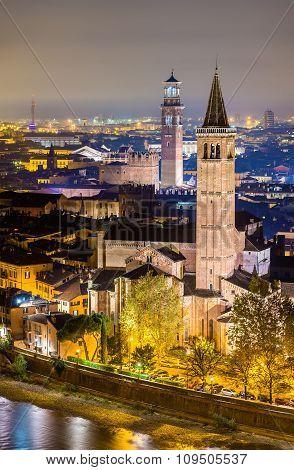 St. Anastasia Church And Palace Della Ragione - Verona