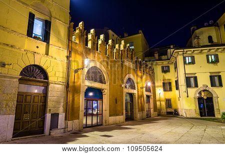 Houses On Piazzetta Pescheria In Verona - Italy