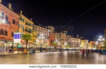 The Piazza Bra, The Central Square Of Verona