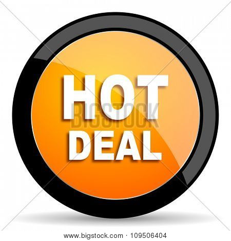 hot deal orange icon