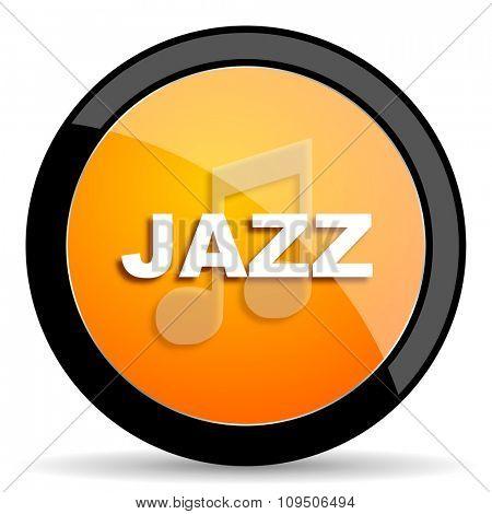jazz music orange icon