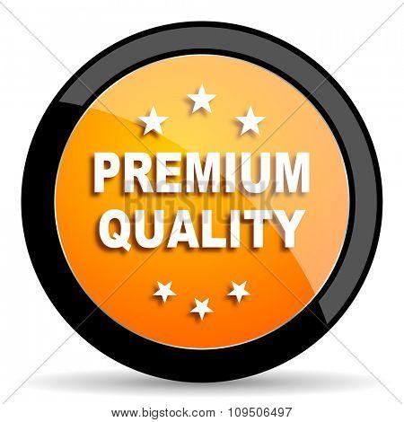 premium quality orange icon